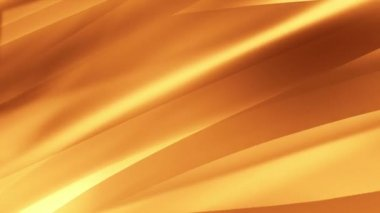Gold abstract waving background. Seamless loop. More color options available in my portfolio. — Stock Video