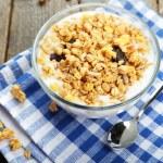 Muesli with yogurt in a bowl — Stock Photo #63085905