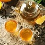 Green tea in cups — Stock Photo #63087535