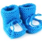 Handmade baby booties — Stock Photo #63087847