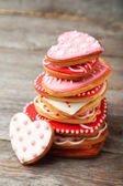 Heart sweet cookies — Stock Photo