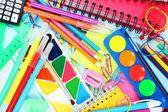 Different school supplies — Stock Photo
