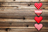 Love red hearts — Stock Photo