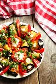 Tasty eggplant rolls — Stockfoto