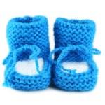 Handmade baby booties — Stock Photo #63095035