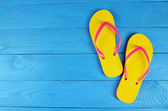 Yellow Flip Flops — Stock Photo