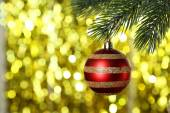 Decorated Christmas baubles — Stock Photo