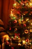 Árbol de Navidad con luces — Foto de Stock