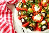 Tasty eggplant rolls — Stock Photo