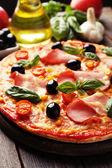 Delicious fresh pizza — Stock Photo