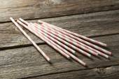 Striped straws for cocktails — Stock Photo