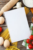 Open blank recipe book — Stockfoto