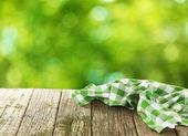 Napkin on wooden table — Foto de Stock