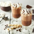 ������, ������: Glasses of hot chocolate with marshmallows