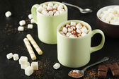 Cup of hot chocolate with marshmallows — Stock Photo