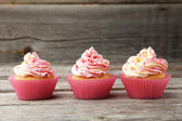 Tasty sweet cupcakes — Stock Photo