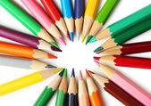 Colour pencils background — Stock Photo