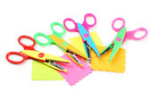 Figured scissors and papers — Stock Photo
