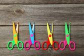 Figured colorful scissors — Stock Photo