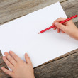 Childs hands drawing — Stock Photo #68233831