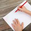 Childs hands drawing — Stock Photo #68234141