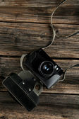 古いレトロなカメラ — ストック写真