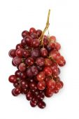 Red grapes isolated on white — Stock Photo