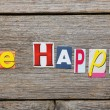 The word be happy — Stock Photo #70773019
