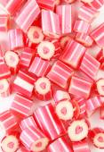 Colorful candies with hearts — Stock Photo