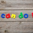 I can do it word made of colorful magnets — Stock Photo #71401691