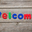 Welcome word made of colorful magnets — Stock Photo #71401723