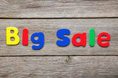 Big Sale words made of colorful magnets — Stock Photo