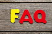 FAQ word made of colorful magnets — Stock Photo
