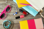 Different women's accessories — Stock Photo