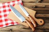 Cucina coltelli sul tagliere — Foto Stock