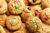 Cookies with colorful candies — Stock Photo