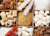 Various kinds of sugar — Stock Photo