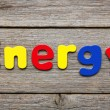 Energy word made of colorful magnets — Stock Photo #75810843