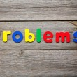 Problems word made of colorful magnets — Stock Photo #75811691