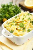Delicious pasta with with broccoli — Stock Photo
