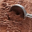 Chocolate ice cream scooped out — Stock Photo #80554018