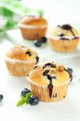 Tasty blueberry muffins — Stock Photo