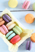 French colorful and tasty macarons — Stock Photo