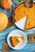 Tasty pumpkin pie — Stock Photo