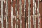 Fragment of a wooden fence with cracked paint — ストック写真