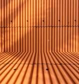 Orange metal sheet roof background — Stock Photo
