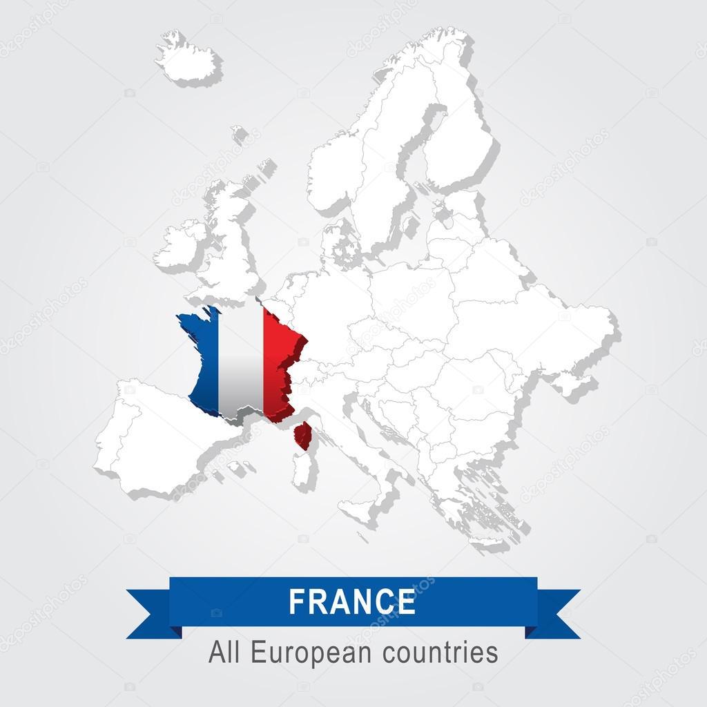 欧洲行政地图 — 图库矢量图像08