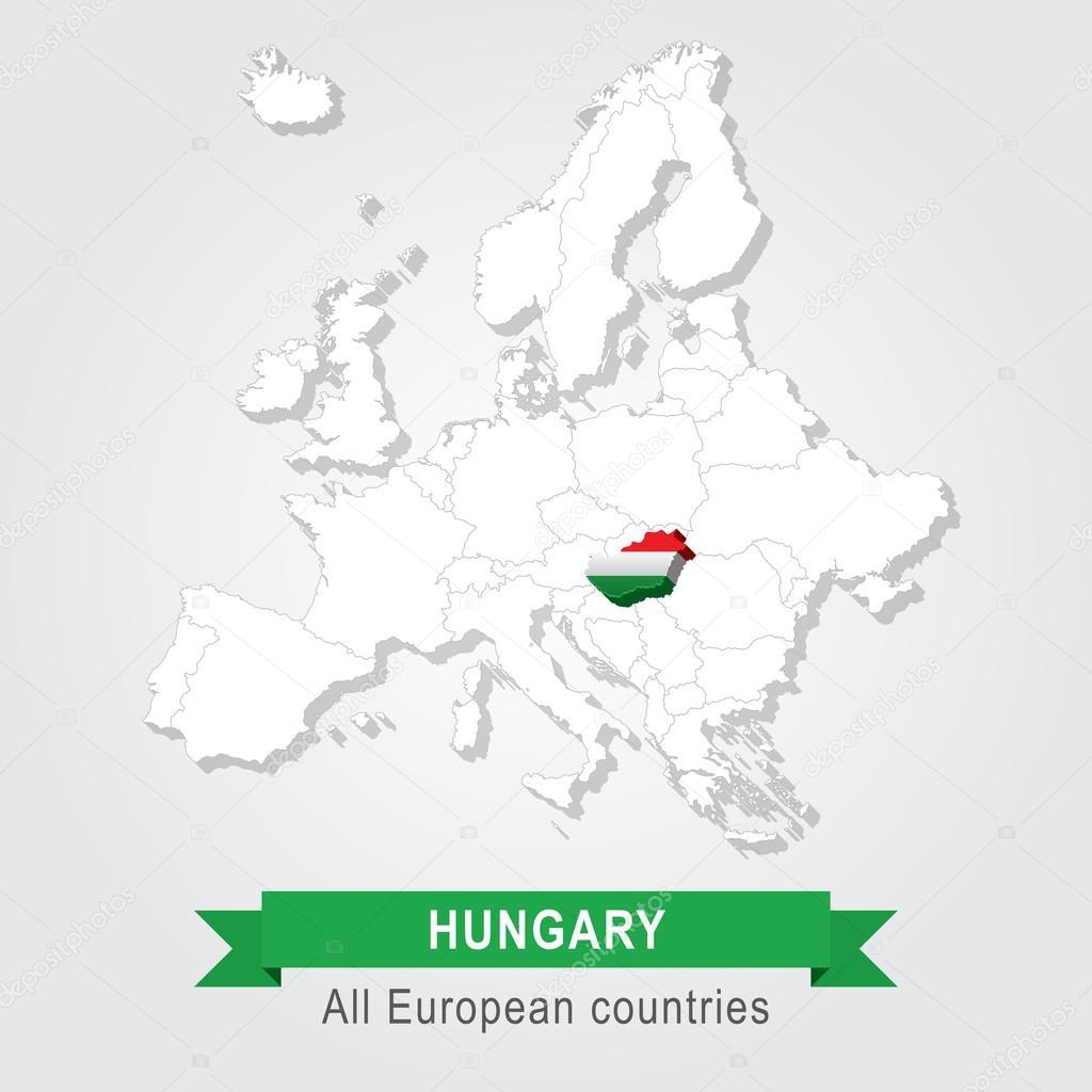 匈牙利.欧洲行政地图
