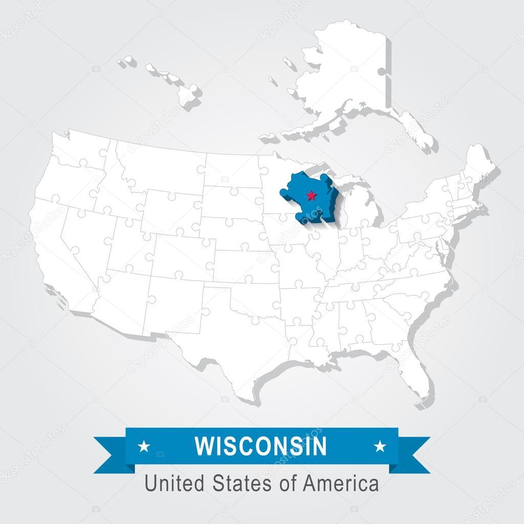 美国行政地图 — 图库矢量图像08 snyde