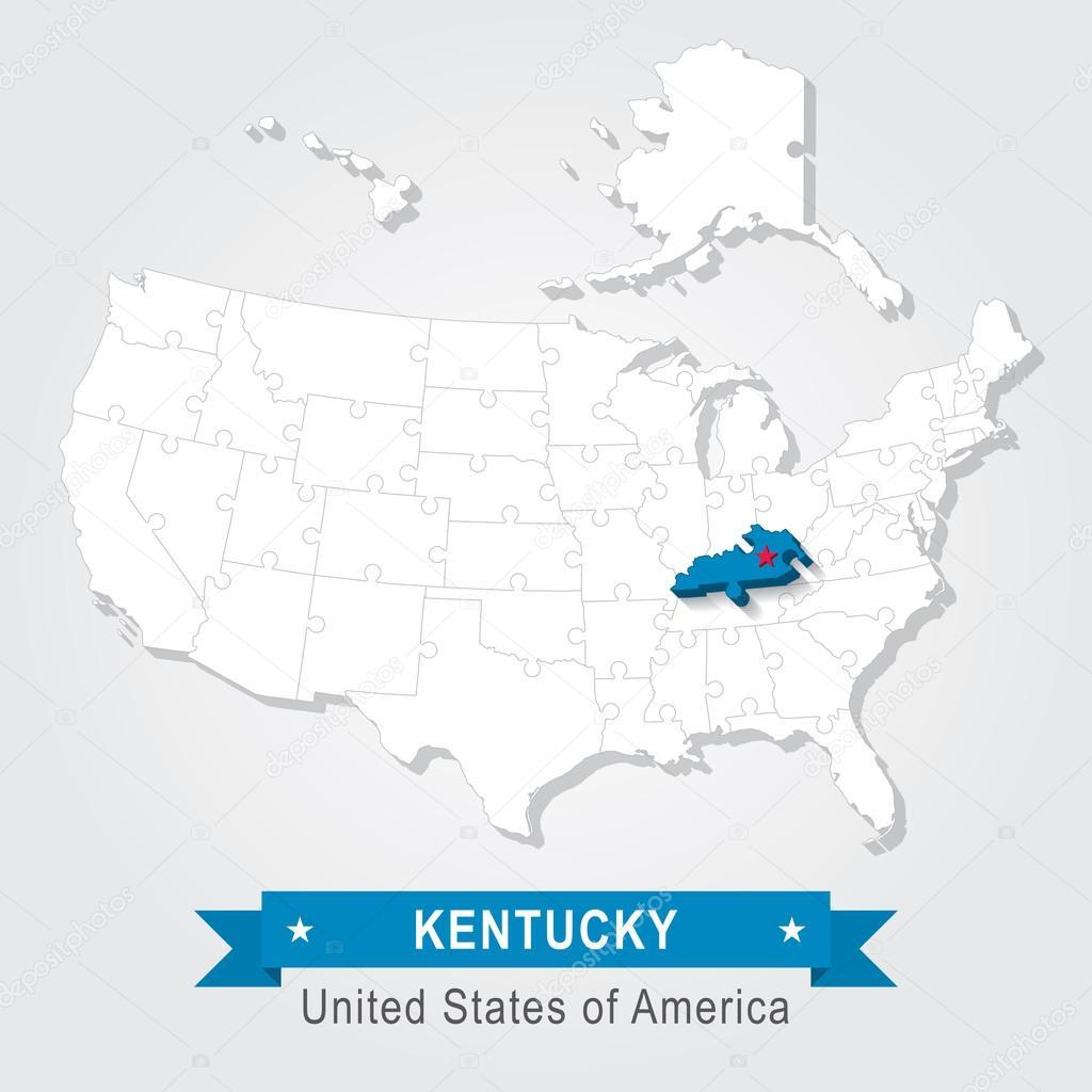 美国肯塔基州.美国行政地图